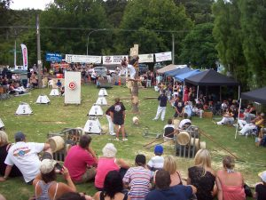 Puhoi Axemen woodchopping Carnival