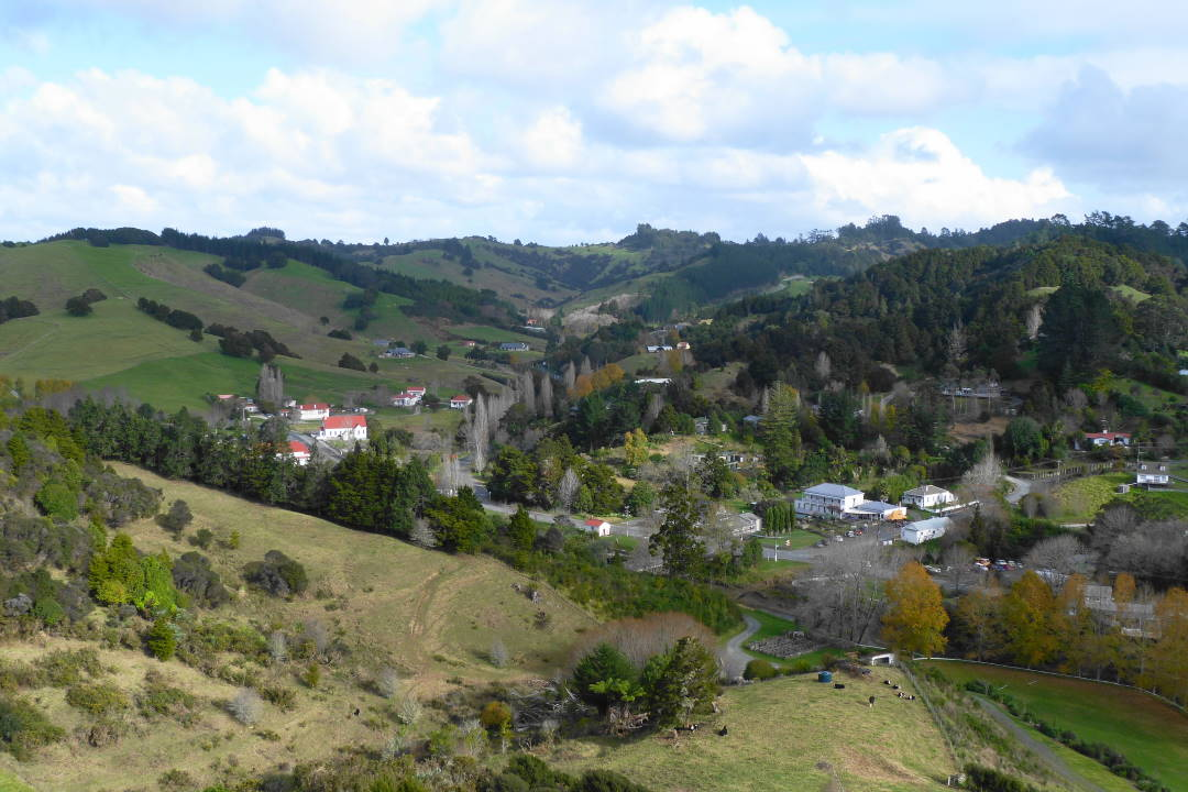 Puhoi village from Dunn Memorial