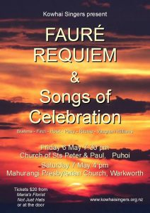 Kowhai Singers  - Songs of Celebration @ Puhoi Church