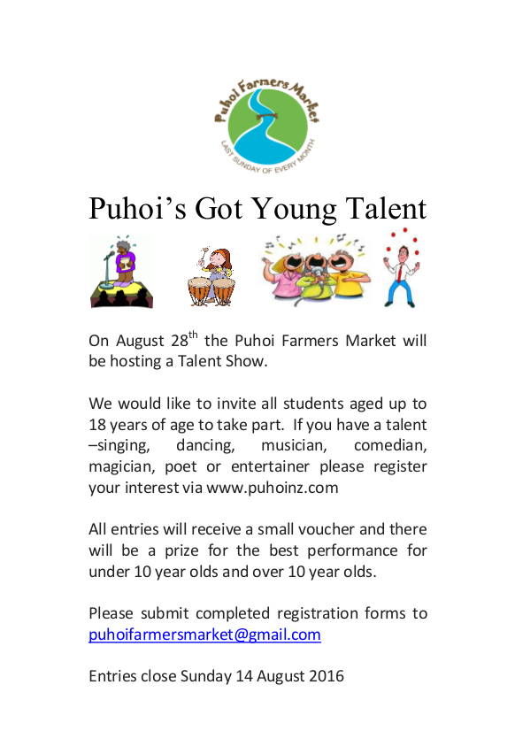 Flyer for Talent Show