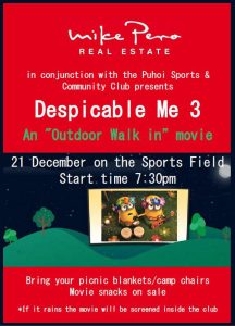 Outdoor Walk-In Movie @ Puhoi Sports Club