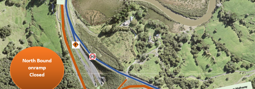 Latest Road Closures For Motorway Related Works Update for Puhoi