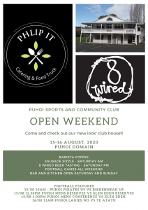 Open Weekend at Puoi Sports Club @ Puhoi Sports Club